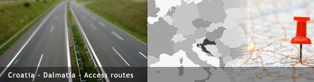 Croatia - Dalmatia - Access routes